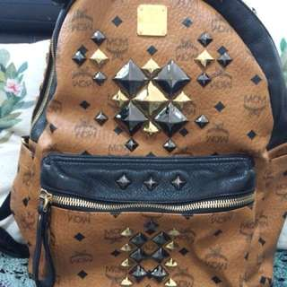 MCM 97% new LARGE STARK BROCK STUDDED