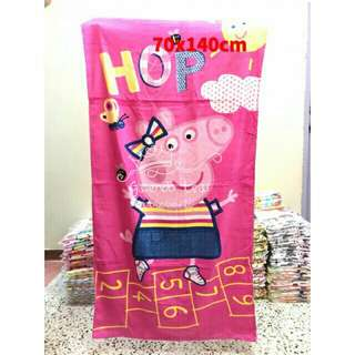 *FREE DELIVERY to WM only / Ready stock, 2pc RM75*  Peppa pig design shower towel each as shown design/color. Free delivery is applied for this item.