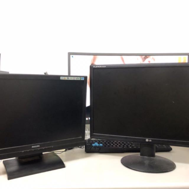 二手電腦螢幕19及22寸 買就送VGA轉接HDMI頭