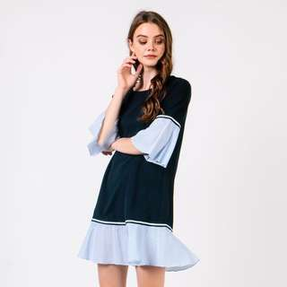 CNY clearance: Dressabelle contrast hem dress style of love and bravery