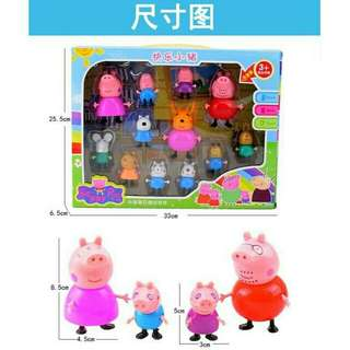 *FREE DELIVERY to WM only / Ready stock*  Peppa pig 12pcs toy set each as shown design/color. Free delivery is applied for this item.