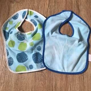 Mothercare blue Bibs Set of 2