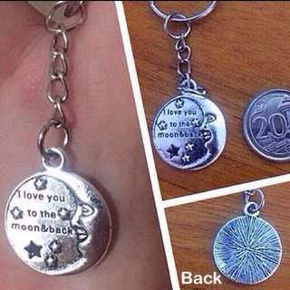 """""""Love you to the moon and back"""" keychains [Valentine day anniversary Couple lovers dangles  gifts presents handmade uncle.anthony uncle anthony uac 2bump]"""