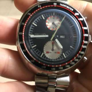 Vintage classic Seiko UFO chrono watch 6138 0011.Cny sales