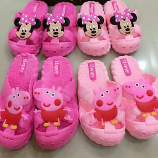 *FREE DELIVERY to WM only / Ready stock*  Kids shoes each as shown design/color Peppa pig, George pig, Mickey, Minnie. Free delivery is applied for this item. Pm for size.