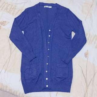 V領造型排釦薄針織防曬外套/罩衫/辦公室 冷氣房保暖