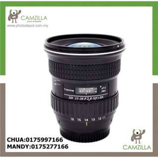 USED TOKINA LENS SD 11-16 F2.8 (IF) DX (FOR NIKON)