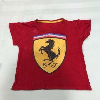 Ferrari baju kaus