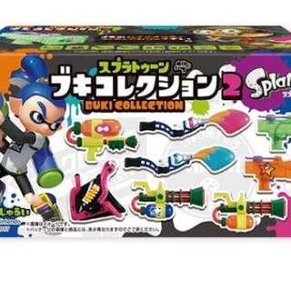 Splatoon Buki (weapon) collection 2 miniature 漆彈大作戰 食玩 武器 Nintendo Switch 墨魚 魷魚 迷你 模型 禮物
