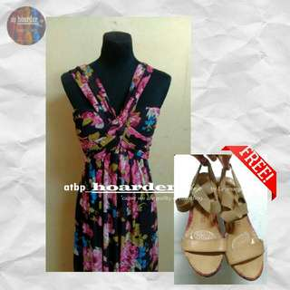 Mags Floral Beach Gown And Free Unlisted Wedge