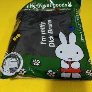 Miffy travel goods siffler HAPITAS 摺疊旅行袋 Travel Bag 黑色影子兔 長筒款