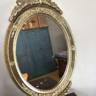 Kaca cermin oval 2pcs