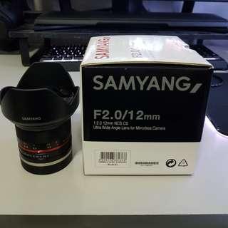 Samyang 12mm f2 for Sony E Mount Cameras