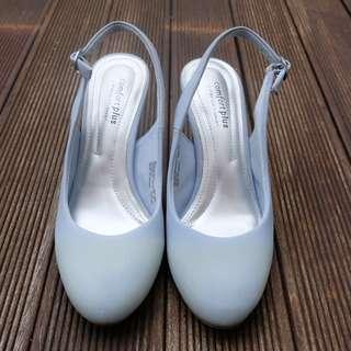 Comfort Plus Sling Back Heels in Baby Blue