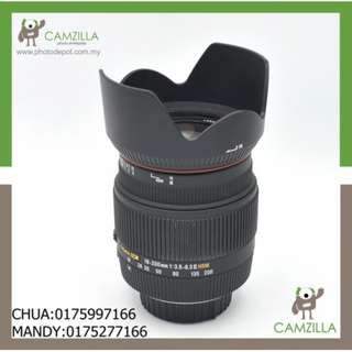 USED SIGMA 18-200mm 1:3.5-6.3 II HSM(FOR NIKON)