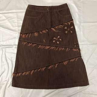 🚚 深褐色長裙