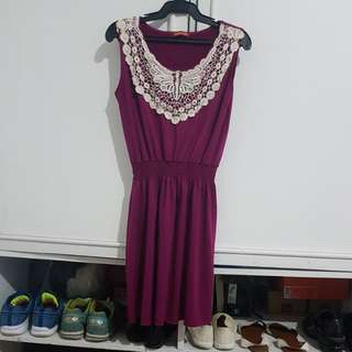 Dark pink peyit monde sleveless dress