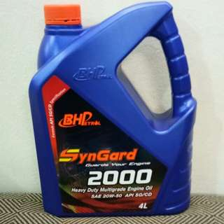 Engine Oil BHP SynGard 2000 Heavy Duty Multigrade SAE 20W-50 API SG/CD