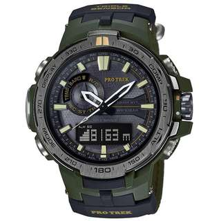 CASIO PRO TREK PRW-6000 series PRW-6000SG MULTI BAND 6 電波受信機能 TOUGH SOLAR 光動能 PROTREK PRW6000SG