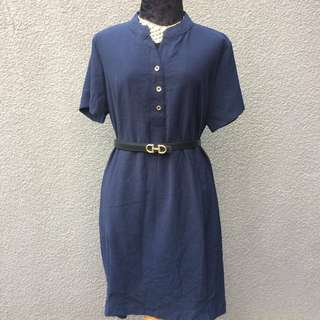 Navy blue oversize plus size dress