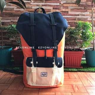 Herschel Little America Orange and Navy Blue