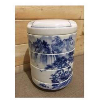 陶瓷青花瓷器 * 四層點心盒