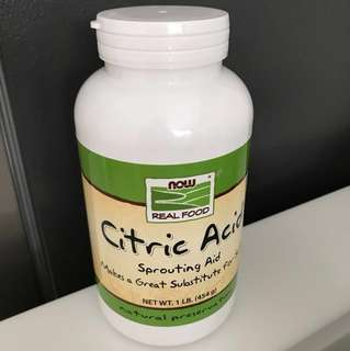 Now Real Food Citric Acid 454g