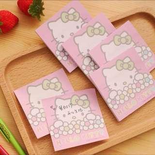 Hello Kitty Post It Sticky Note Pad 吉蒂猫便利贴