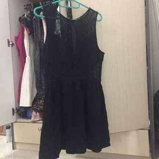 Forever 21 Black Net Dress