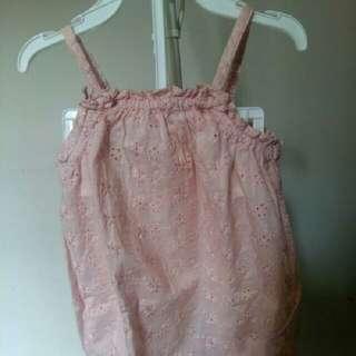 H & M babby cotton romper