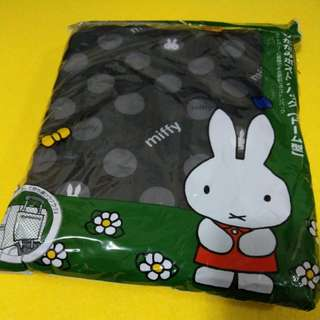 Miffy travel goods siffler HAPITAS 摺疊旅行袋 Travel Bag 灰色波點 長筒款