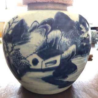 Qing Blue and white Jar