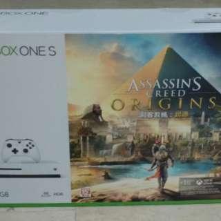 X Box One S (500GB) Assassin's Creed Origins Bundle