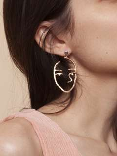 Readystock Gold Facing Problems Earrings