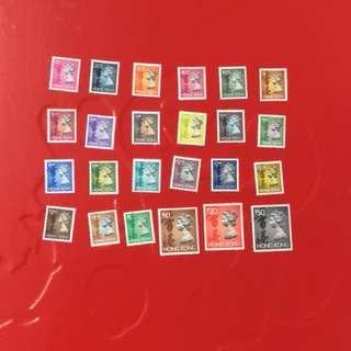 香港女皇頭24全郵票
