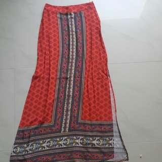 Boho maxi skirt BNWT