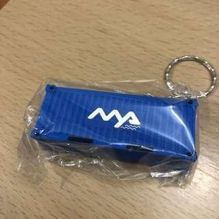 貨櫃鎖匙扣 6.5cm 2cm 2.5cm -不包郵 (40g 郵費$3)