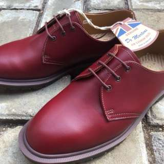 Dr. Martens docmart 1461 steed oxblood quilon Made In England MIE