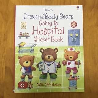 Dress the teddy bear going to sticker book