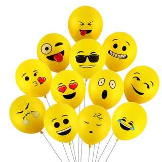 Emoji - Emotion - funny balloons [5pcs]