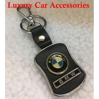 BMW METAL CAR LOGO LEATHER KEYCHAIN KEYRING KEY CHAIN RINGS