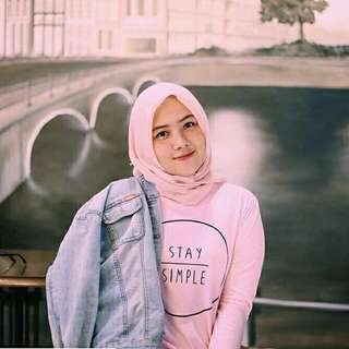 Stay simple pink lengan panjang