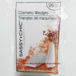 SASSY + CHIC COSMETICS WEDGES TRIANGLE 28PCS PER PACK