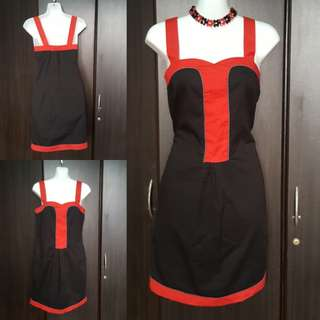 ☝️FREEWAY Dress (LBD with red piping)