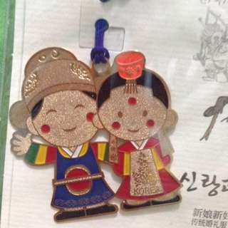 Korean Bride and Groom Bookmark