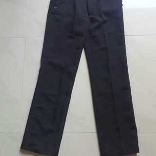 Black straight-cut suit pants BNWT