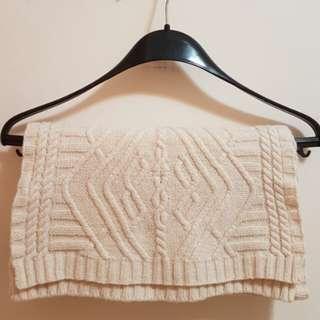 H&M 米色頸巾