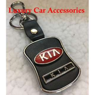 KIA METAL CAR LOGO LEATHER KEYCHAIN KEYRING KEY CHAIN RINGS
