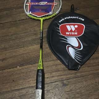Wish badminton racket