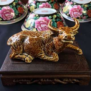 Vintage Porcelain Water Buffalo